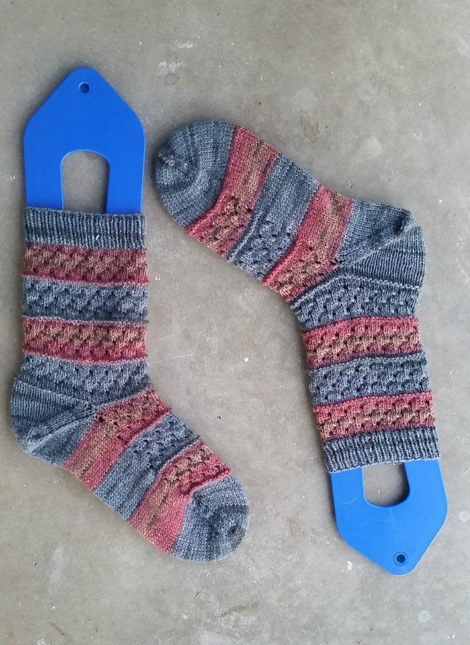 Handknit Socks, Knitting, Self Striping Yarn