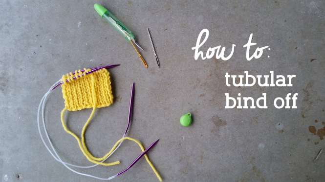 How to knit a tubular bind off